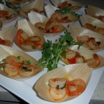 prawn boats coctail food