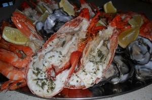 lobster seafood platter