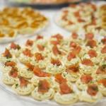 smoked salmon tarts for wedding