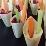 finger food dip cones