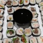 sushi platter, finger food