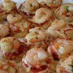 mini prawn pizzettas