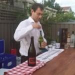 serving drinks