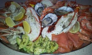 Christmas seafood platter