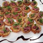 canapes with roast beef