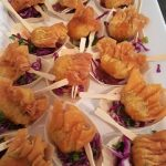 prawn wontons finger food