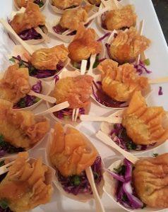 prawn wontons finger food